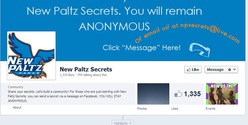 Shh, We Know Your Secret! A look into the Tell-All New Paltz Secrets Facebook Page