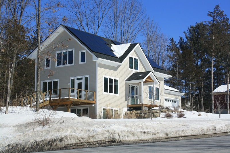 Lot 18 proudly sporting its solar panels. Green Acres, New Paltz, NY.  Photo credit: Krista Arena
