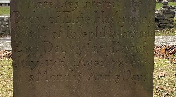 Elsie Hasbrouck grave Haunted Hugeunot Graveyard. Photo captured by Emma Misiaszek