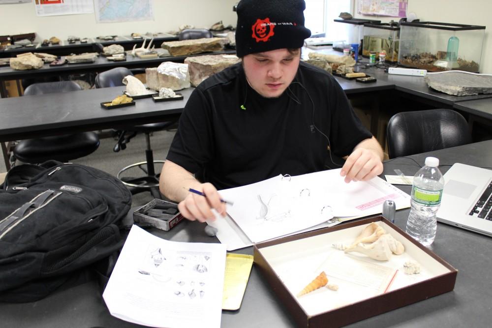 Third-year geology major Brennan DuBois, 21. Photo by Khynna Kuprian.