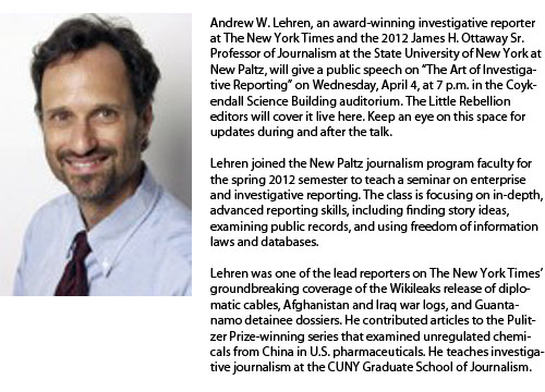 Live event: Andrew Lehren on Investigative Journalism