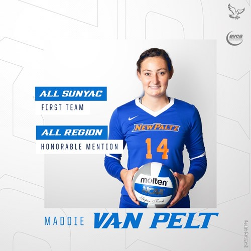 SUNY New Paltz Women's Volleyball Senior Maddie Van Pelt Earns First-Team All-SUNYAC and All-Region Honorable Mention Honors