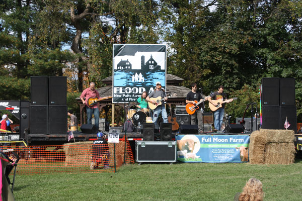 A view of the main stage at the flood benefit concert on Sunday while The Trapps  performed. Photo by Lauren Scrudato