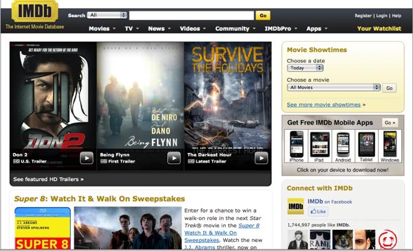 IMDB.com screenshot.