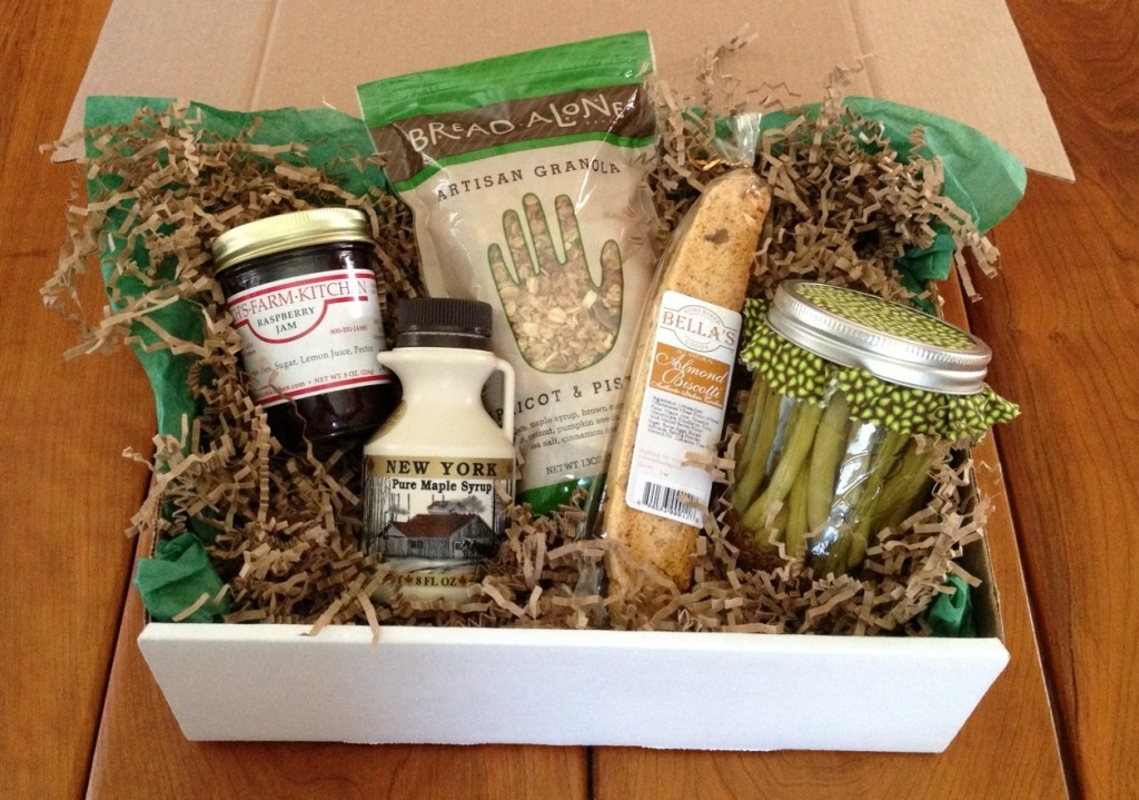 The Bounty Box features five treats from local farmers in the Hudson Valley region. Photo courtesy of Mary Kelso