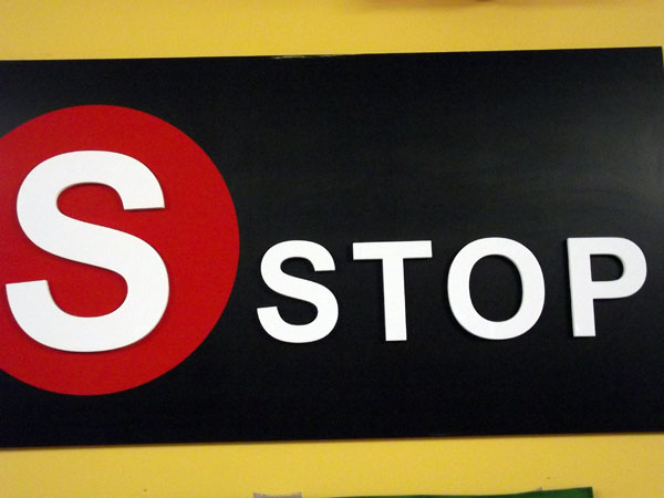 S Stop Sign. Photo by Maria Schettini