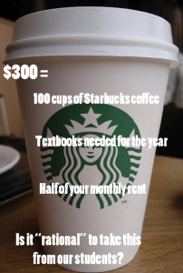 What $300 realistically means to students.