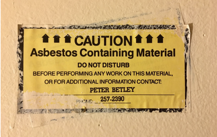 Sleeping with The Enemy: Asbestos Treatment at SUNY New Paltz