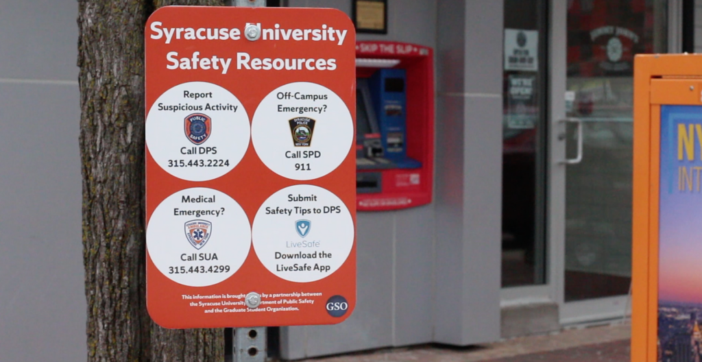 Syracuse safety resource sign