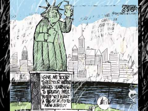 Bloomberg's ban on large sugary drinks has some New Yorkers heated. Cartoon Courtesy of  article.wn.com