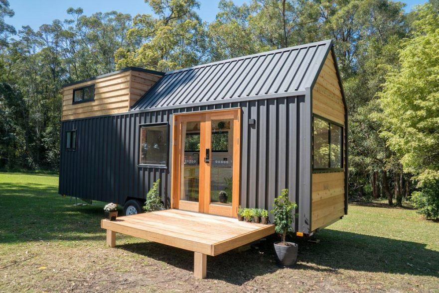 tiny home in the summertime