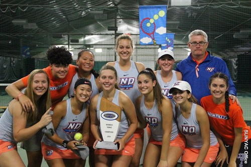 SUNY New Paltz Women's Tennis Repeat as SUNYAC Championships After 5-2 Win Over No. 2 Seed Oneonta