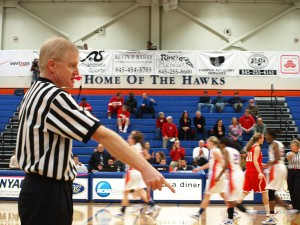 """Three referees of the game also supported """"Think Pink Night"""" by using pink whistles during the game."""
