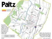 Map of of both the town of New Paltz and the village.