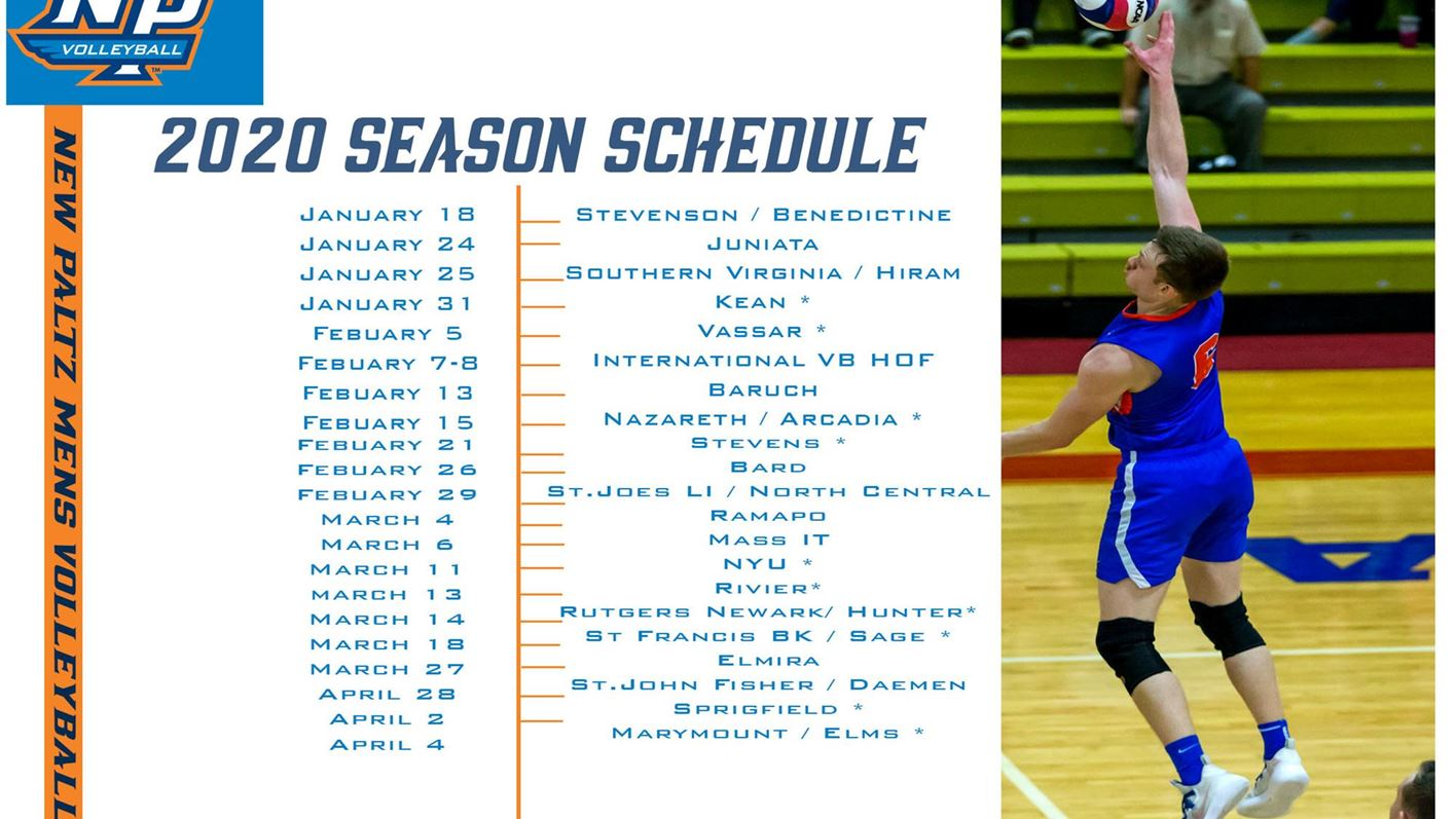 SUNY New Paltz Men's Volleyball Releases 2020 Schedule