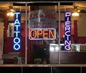 The front window of Art and Soul located on Main Street in New Paltz.