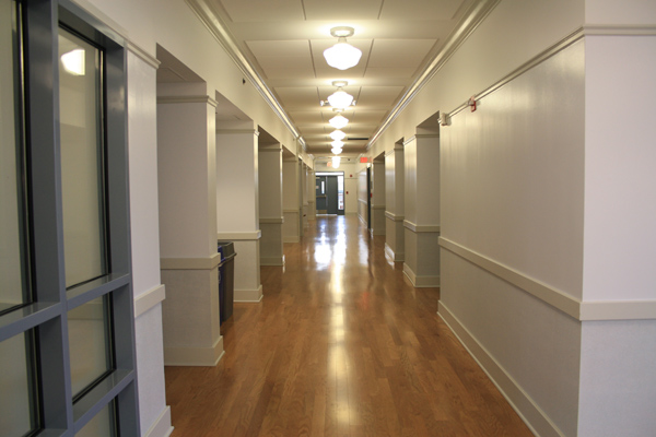 The interior of the building is modern and fresh. Photo by Bronte Kelso-Marsh.