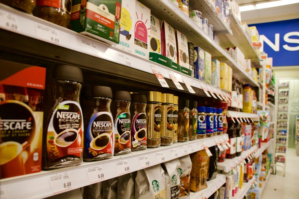 Grocery Store Aisle with items