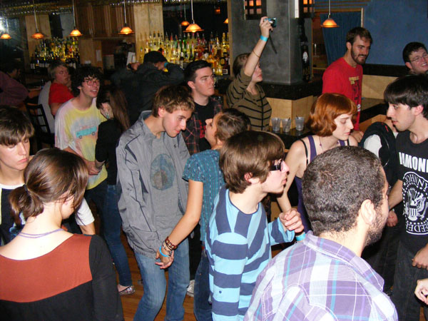 The crowd gets into the music and daces along as Ten Speed plays. Photo By: Dan O'Regan