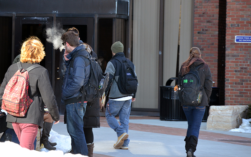 Campus Smoking Policy Actually Community Enforced