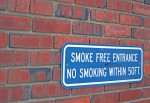 Smoking signs. Photo By Andrew Frey.