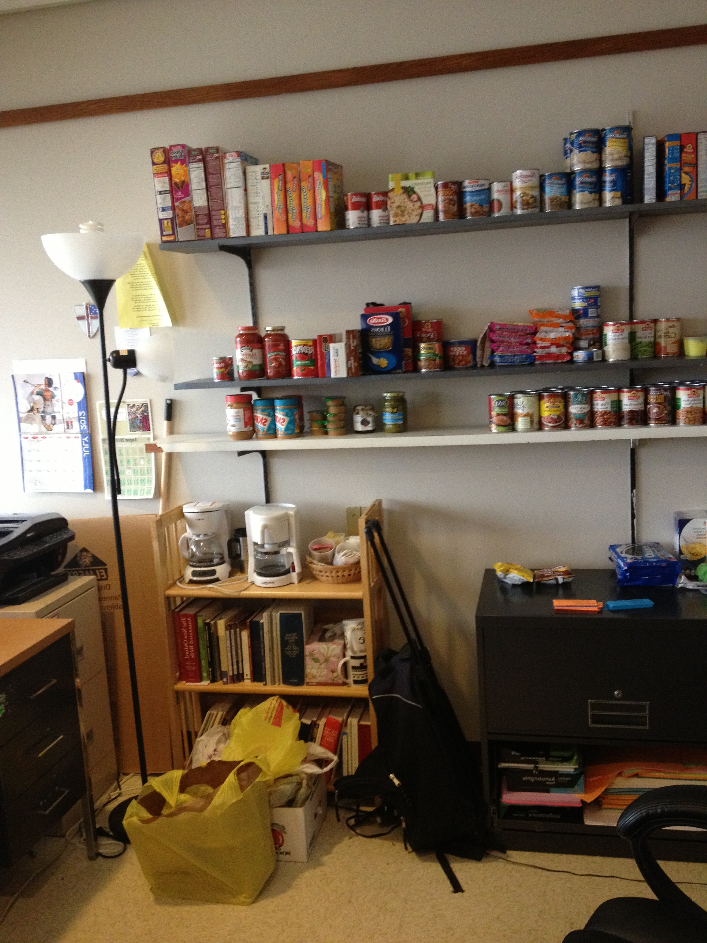 The food pantry is still a work
