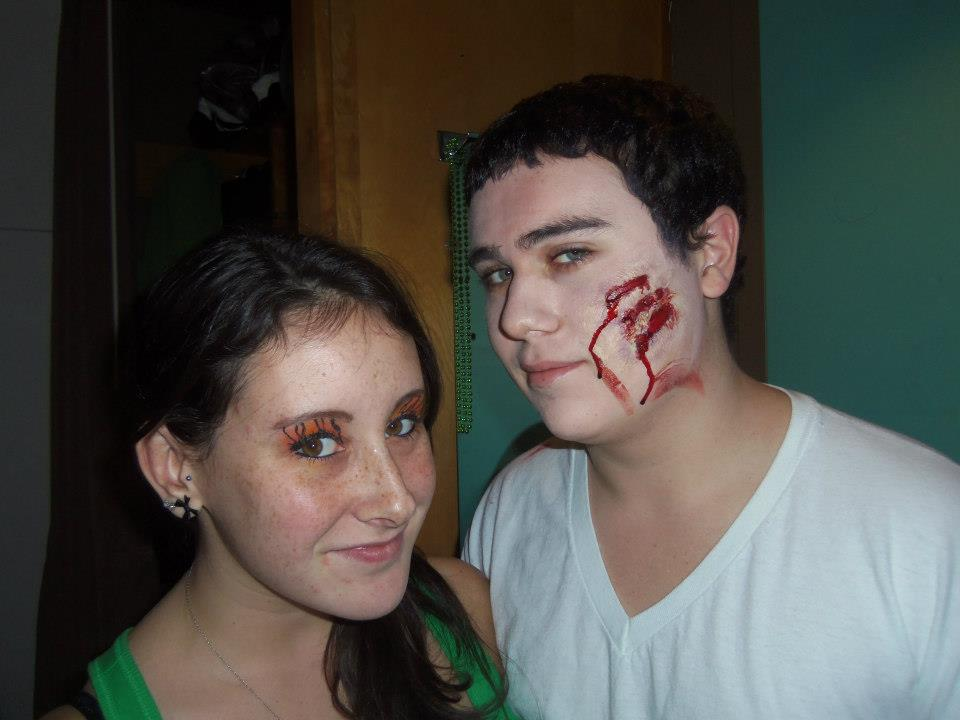 SUNY New Paltz students Joe Neggie and Danielle Zanata show off their Halloween costumes. Photo courtesy of Facebook.