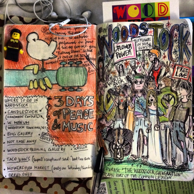 A travel log after visiting Woodstock.