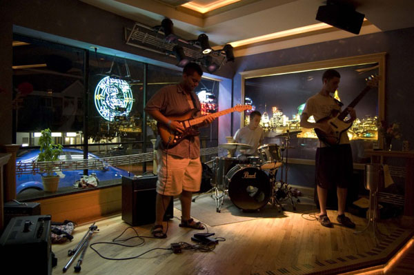 Just the Tip playing their all instrumental set on Tues. Sept. 13. Photo By Brenna Landerkin