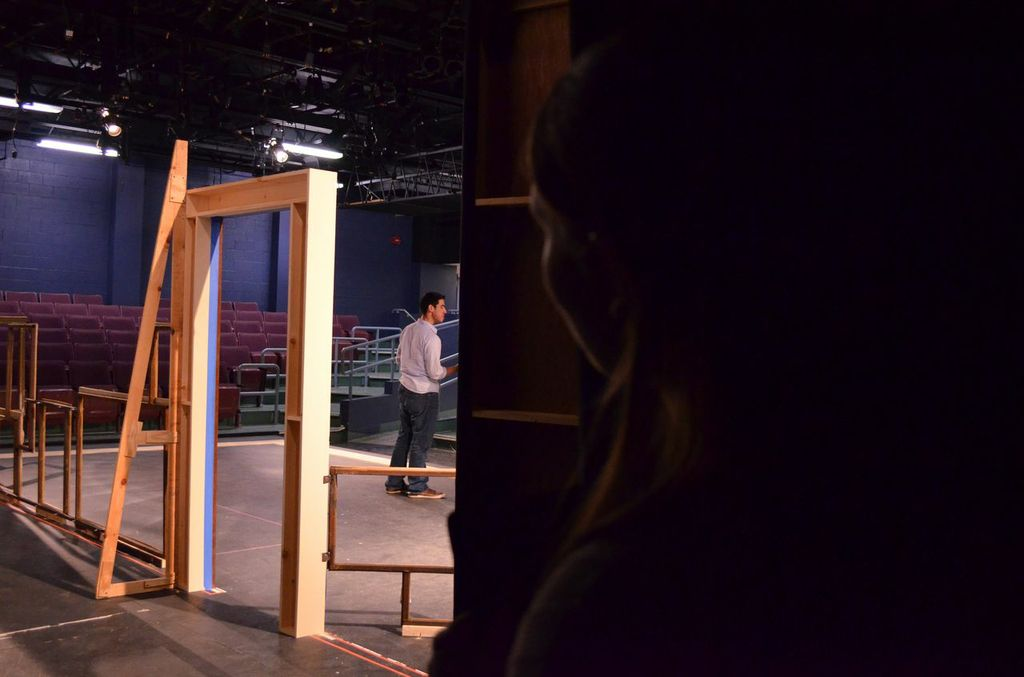 Jenny Berger prepares to enter the scene from back stage. Photo by Jillian Nadiak.