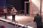 Actor Vinny Craig rehearses with his scene partner. Photo by Jillian Nadiak.