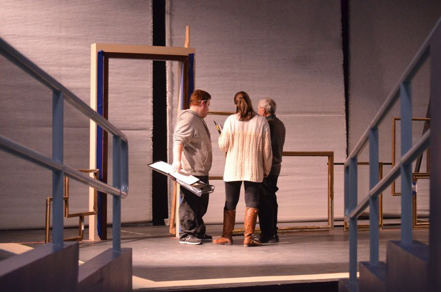 Discussion before start of new scene. Photo by Jillian Nadiak.