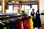 Clothes are arranged by color to make it easier for customers to browse. Photo by Roberto LoBianco.