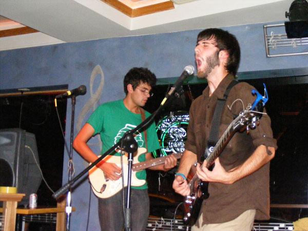 Chris Davenport screaming to an intense part of a song. Photo By: Dan O'Regan