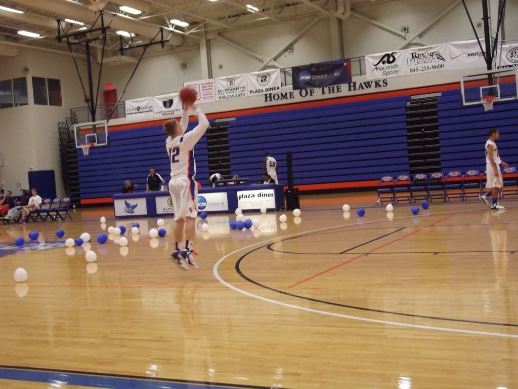 Joe Hulbert taking warming up shots. Photo by Maria Schettini